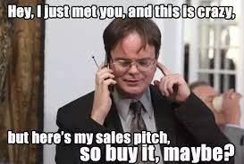 Annoying sales rep