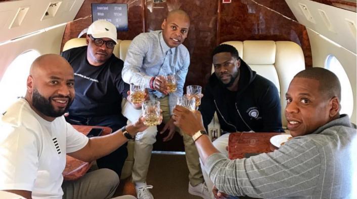 JayZ on a plane