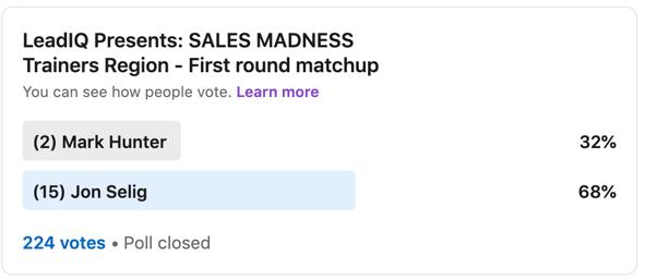 Jon Selig vs Mark Hunter Sales Madness
