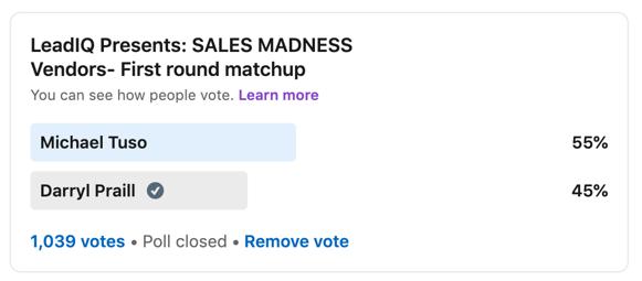 Sales Madness Match up