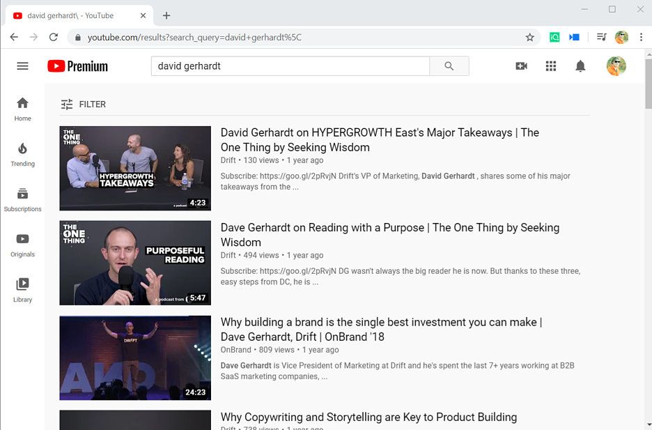 David Gerhardt on youtube