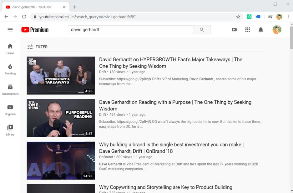 David Gerhardt on youtube