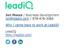 Jon Mazza's email signature