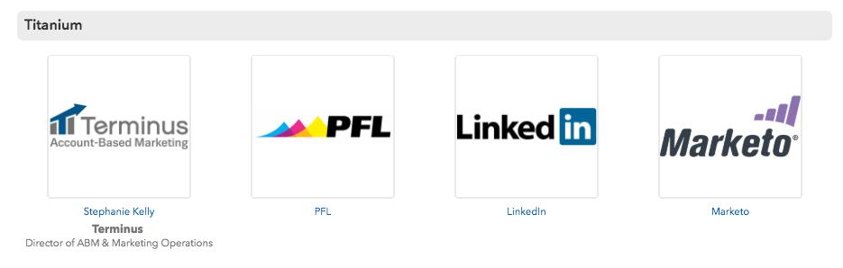 Image sponsor list attending sales conference