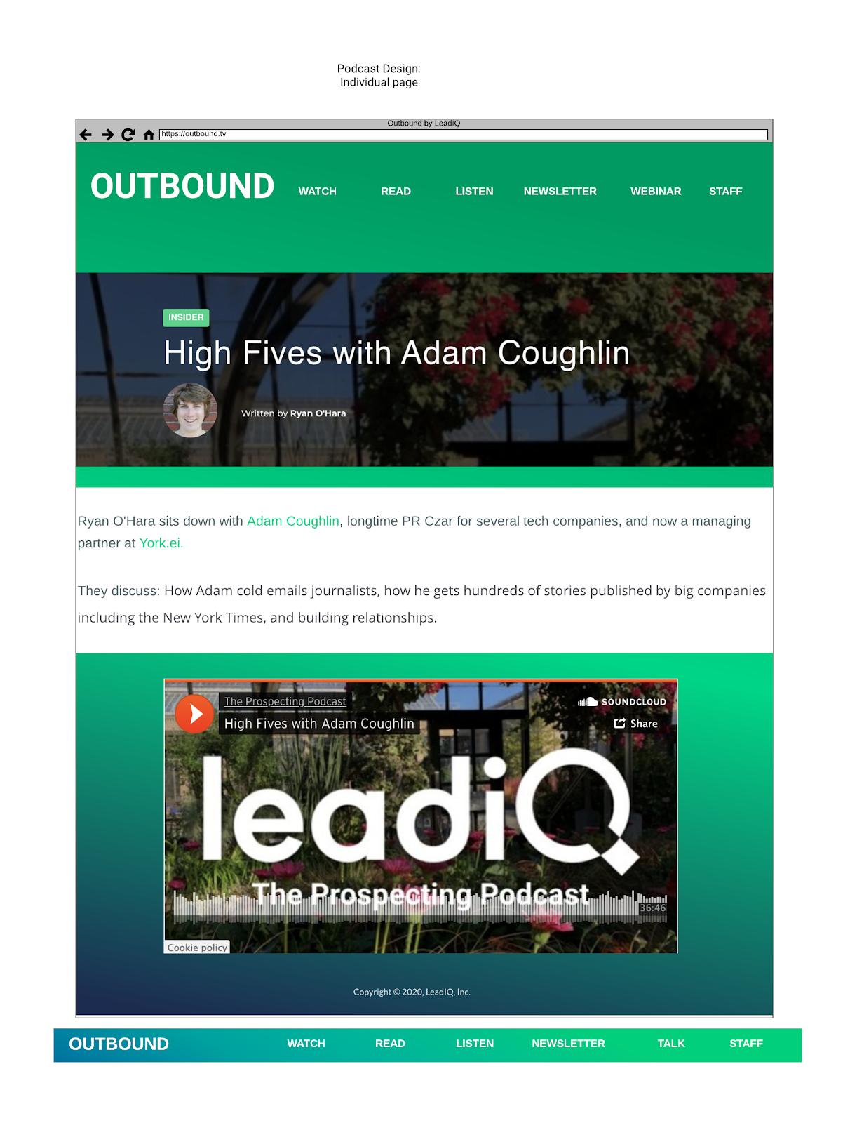 Outbound Podcast Design