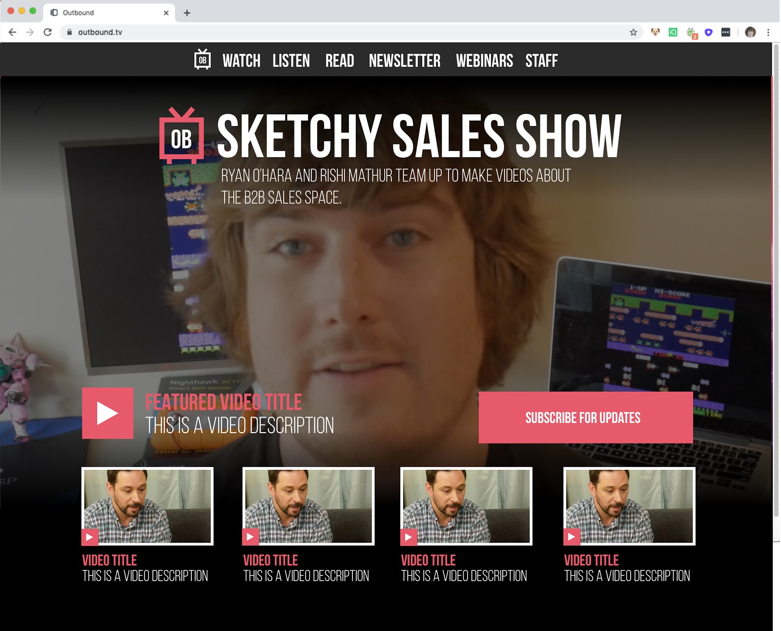 The sketchy sales show