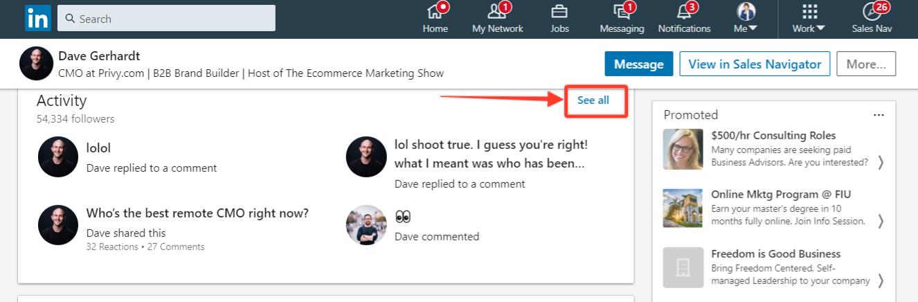 David Gerhardt's LinkedIn profile