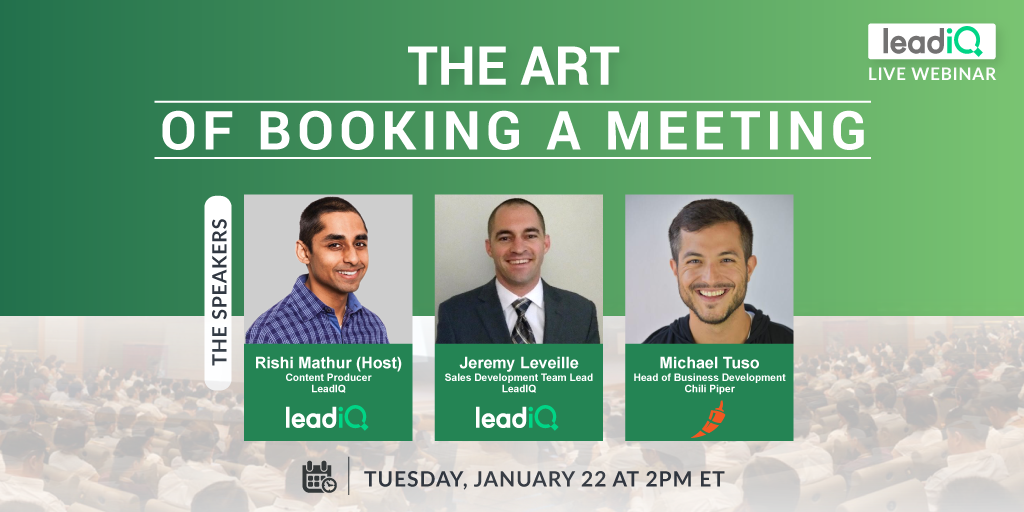 The art of booking a meeting